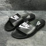 Nike мужские шлепанцы черно белые/красные 5434/5435