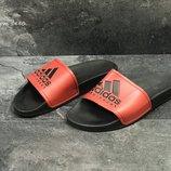 Adidas шлепанцы мужские красные с черным /белые с черным 5440/5441