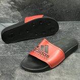Мужские шлепанцы Adidas black/red