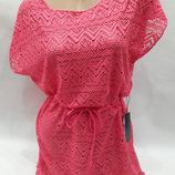 Платье пляжное Келли малиновое на наши 44-52 размеры.