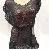 Платье пляжное келли черное на наши 44-52 размеры
