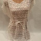 Платье пляжное Келли белое на наши 44-52 размеры