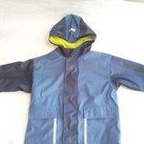 Куртка ветровка дождевик с капюшоном на флисе impidimpi на 5-6лет 110-116см