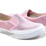 Мокасины для девочки Waldi 39 р розовый 301/279-495-1 Мокасины слипоны
