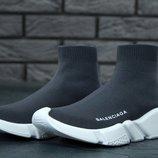 Balenciaga Speed Runner Sock grey, кроссовки мужские баленсиага