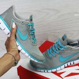 Кроссовки женские Nike Free ran 3.0 gray/blue
