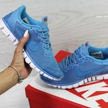 Кроссовки женские Nike Free ran 3.0 blue