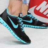 Кроссовки женские Nike Free ran 3.0 black/blue