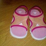Фирменные босоножки сандалии кроксы Adidas Адидас р. 24-25 оригинал 15 см