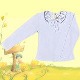 Блуза школьная с длинным рукавом рост 104-134