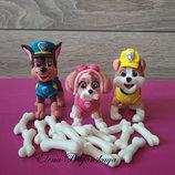 фигурки сахарные из мастики щенячий патруль