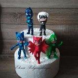 герои в масках из мастики для торта, сахарные фигурки