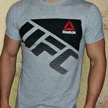 Футболка мужская Reebok UFC светло-серая.