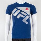 Футболка мужская Reebok UFC темно-синяя.