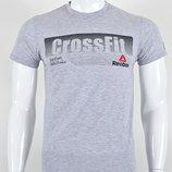 Футболка мужская Reebok CrossFit светло-серая.