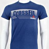 Футболка мужская Reebok CrossFit темно-синяя.