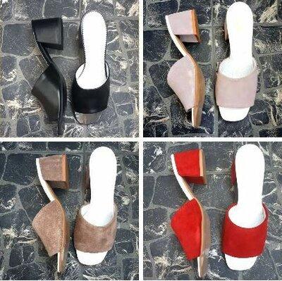 Распродажа Элегантные натуральные кожаные мюли / босоножки с открытой пяткой