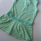 Легкое платье Crazy8, 5T, 5 лет, летнее, в полоску, желто-зеленое