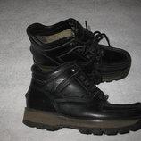 23,5 см стелька, кожаные термо ботинки с гортексом Rockport Waterproof