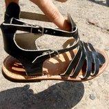 Крутые босоножки сандалии гладиаторы из натуральной кожи р. 39 40