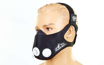 Тренировочная маска аэробная Training Mask 6214 3 клапана, размер S-L