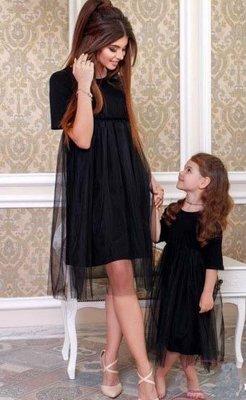 Платье с фатином платье с фатиновой юбкой комплект фемели лук мама дочка