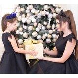 Платье с фатином много цветов комплект мама дочка фемели лук
