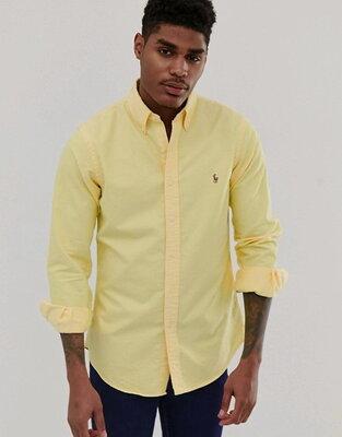 Рубашка плотная желтая Polo by Ralph Lauren Yarmouth oxford 56-60р