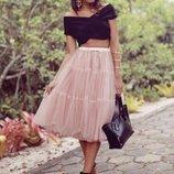 Фатиновая юбка миди