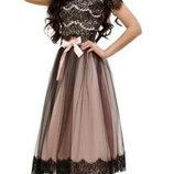 Фатиновая юбка с кружевом
