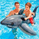 Надувной плот акула Intex 57525 173-107 см.