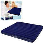 Intex 68755 Надувная кровать King Downy Royal Blue