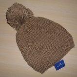 Новая теплая стильная шапка бини Marks&Spencer, оригинал