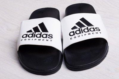 Тапки шлепанцы мужские Adidas Equipment white