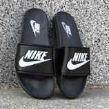 Тапки шлепанцы мужские Nike black