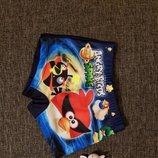 Плавки шорты для мальчиков Angry Birds 28-36рр 92-134р Sisianna 366