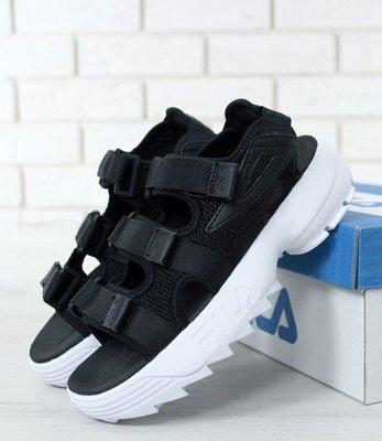 Мужские сандалии босоножки Фила FILA Disruptor сандали Black/White