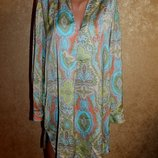 L разм. Стильная рубашка Zara с длинным рукавом Длина по спинке - 88 см., плечи - 42 см., пог
