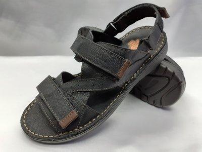 Распродажа кожаные чёрные сандалии на липучках Detta 40,42,43,44,45р.