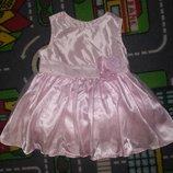 Для принцессы Нарядное розовое платье H&M Очень нежное и красивое Пышное