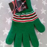 Красивые вязаные перчатки Польша, мужские-женские