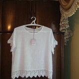 Блуза оверсайз SUGAR BaBe, лен, размер М/l, Италия, новая с этикеткой