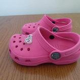 Кроксы девочке 6-7 р стелька 14 см Crocs Крокс оригинал фирменные розовые