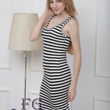 Миди платье в полоску тельняшка платье майка летнее