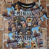 футболка хб Миньоны 4-5лет Джорж большой выбор одежды 1-16лет