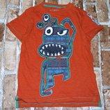 футболка хб Монстрик 7лет Некст Сток большой выбор одежды 1-16лет