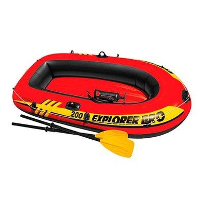 Лодка на 1 взрослого ребенок, весла, насос, EXPLORER PRO 200 196 102 33см INTEX Интекс