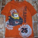 футболка хб Трактор 7лет Дисней большой выбор одежды 1-16лет