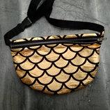 небольшая сумка-барсетка на пояс Русалка