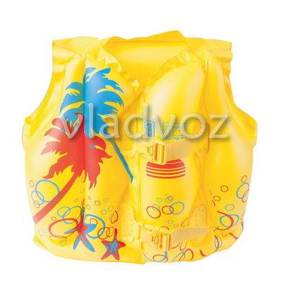 Детский надувной жилет bestway 32069 тропики 2-5 лет